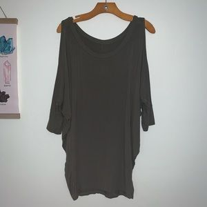 Olive Green Open Shoulder Top